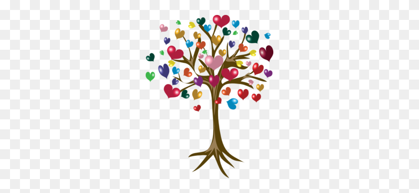 Tree Of Hearts Hearts Heart, Heart Tree, I Love Heart - Aquarius Clipart