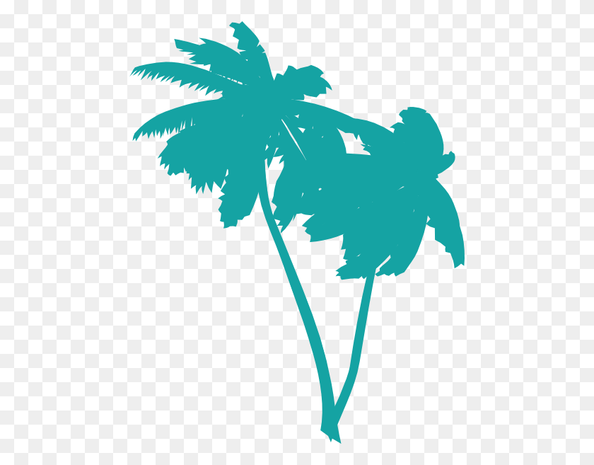 Tree Silhouette Png - Palm Branch Clip Art