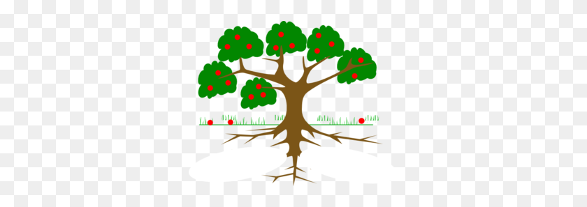 Tree Three Roots Clip Art - Plant Roots Clipart