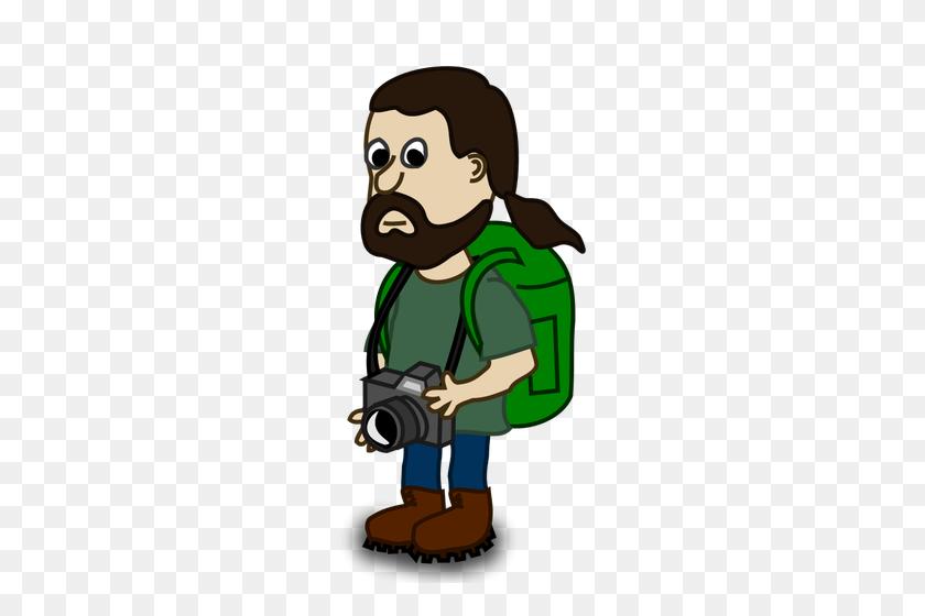 Trekker Comic Character Vector Image - Lumberjack Clipart