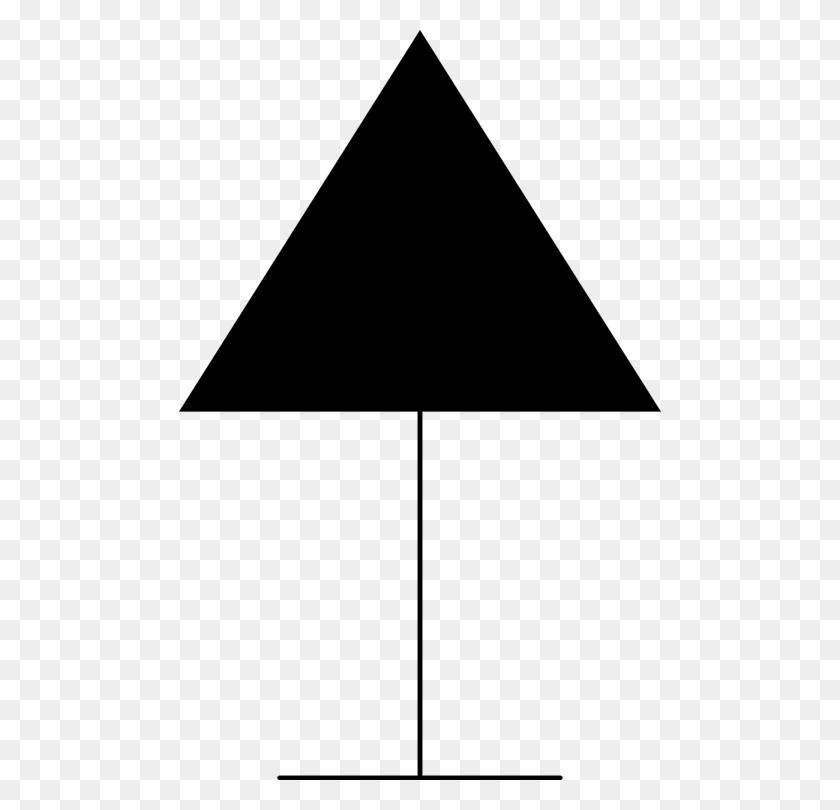 Triangle Brand Black M - Triangle Clipart Black And White