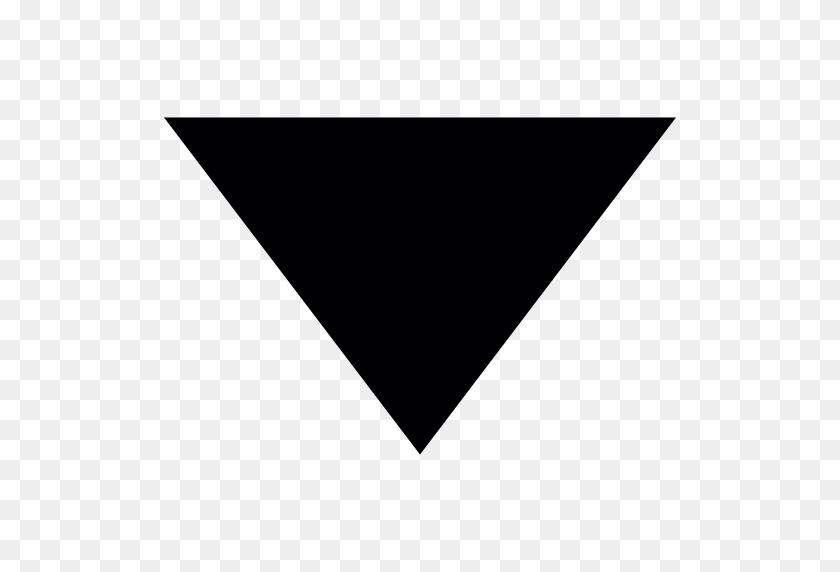 512x512 Triangular Arrow Pointing Down - Arrow Pointing Down PNG