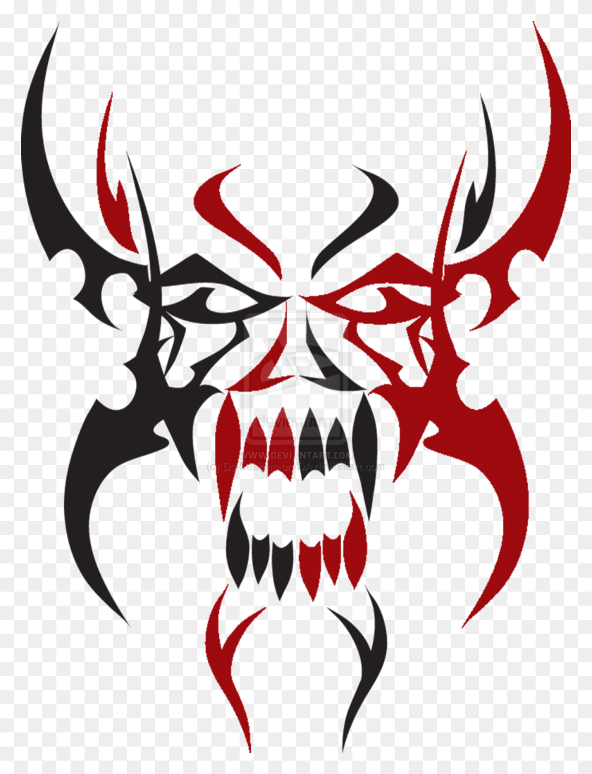 Tribal Skull Tattoos Png Transparent Tribal Skull Tattoos - Skull Tattoo PNG
