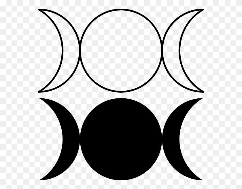 576x595 Triple Goddess Symbol - Moon Phases Clipart