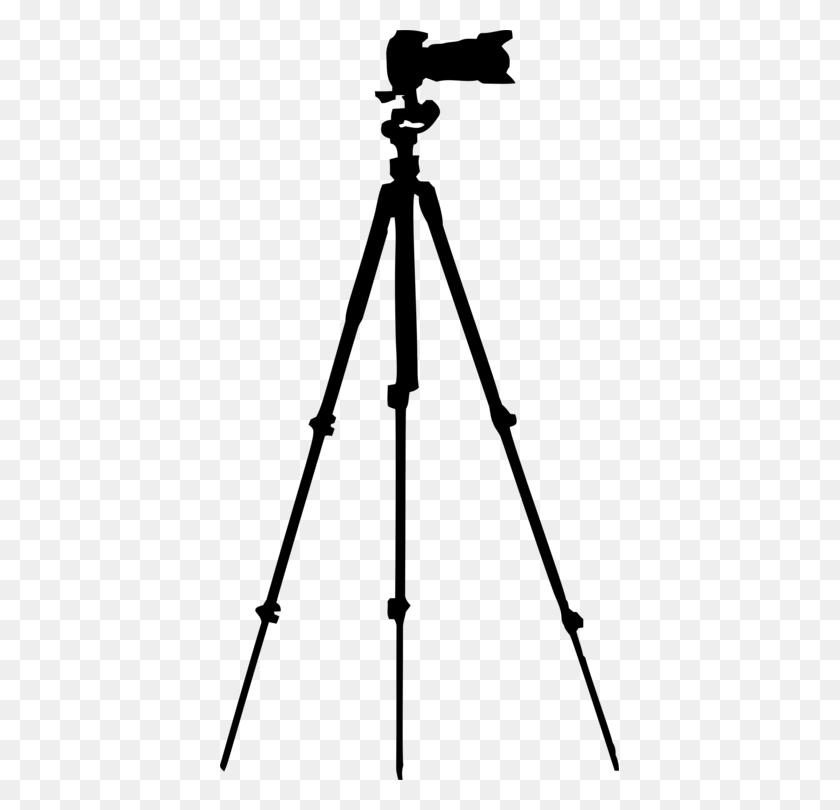 Tripod Camera Lens Silhouette - Tripod Clipart