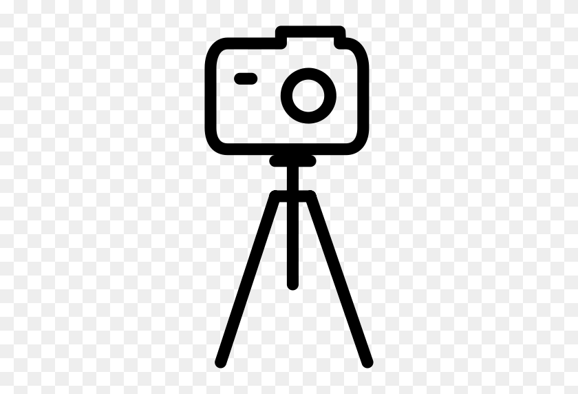Tripod Withcamera, Camera Tripod, Dslr Icon With Png And Vector - Tripod Clipart