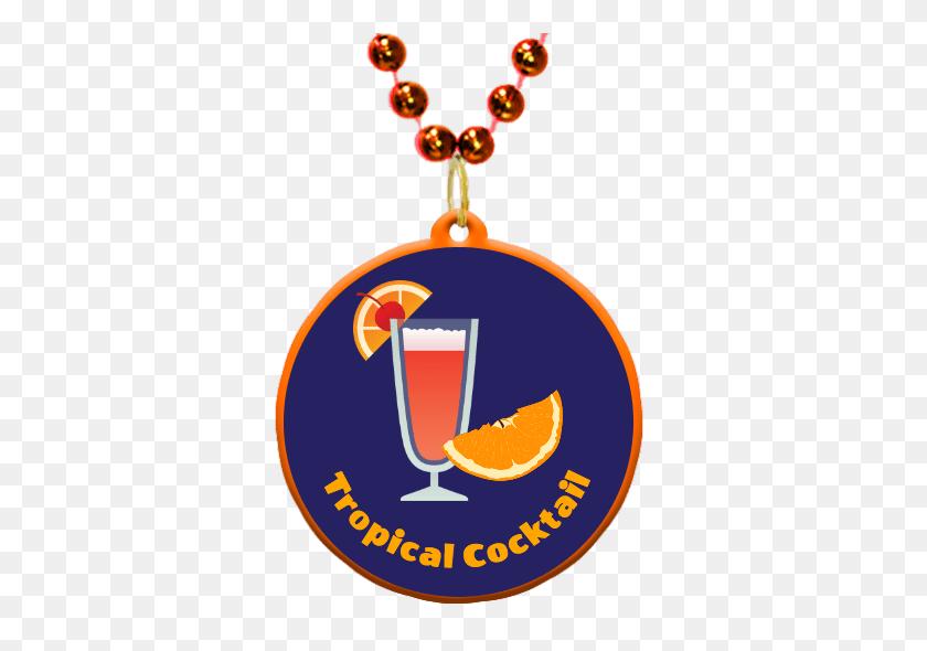 Tropical Cocktails Theme Custom Mardi Gras Beads - Mardi Gras Beads Clip Art