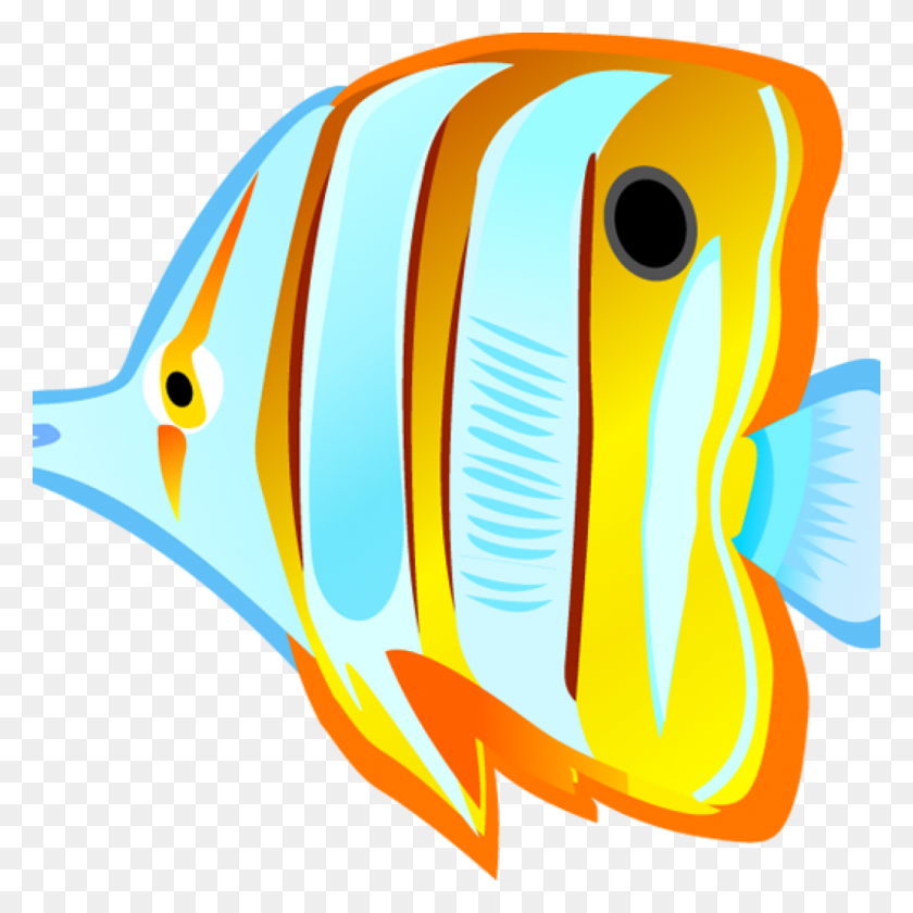 Tropical Fish Clipart Ocean With Fish Clipart Tropical - Shower Curtain Clipart