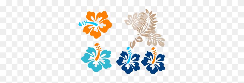 Tropical Flowers Clip Art - Tropical Border Clipart