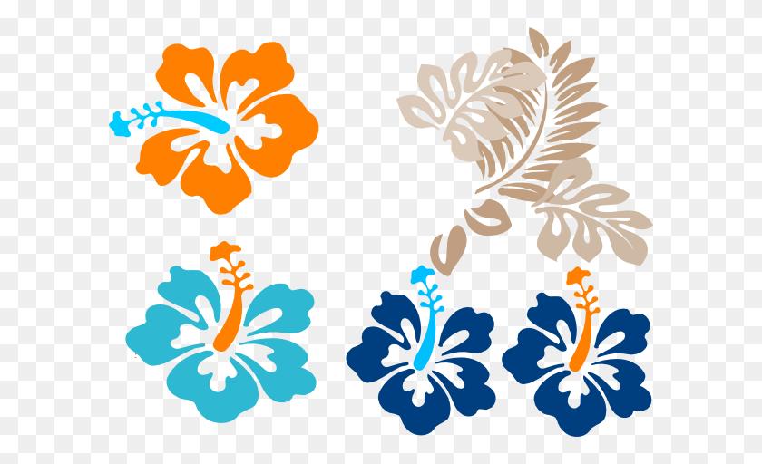 Tropical Flowers Clip Arts Download - Tropical Border Clipart