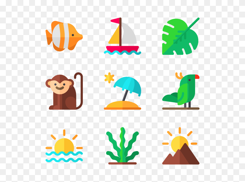 Tropical Icon Packs - Tropical PNG