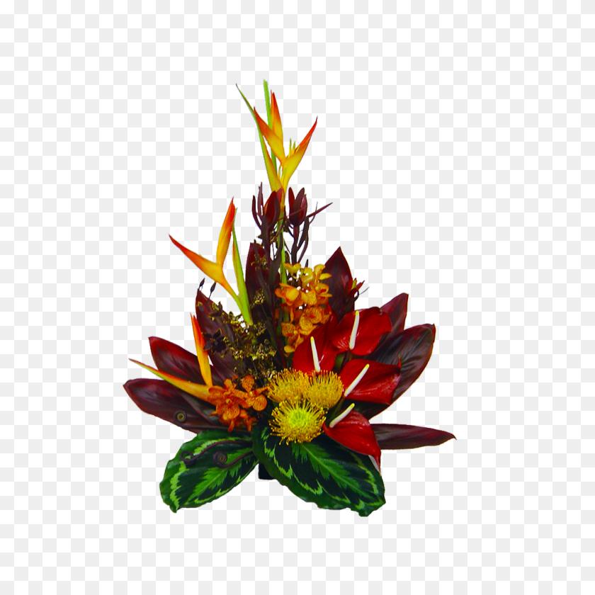 Tropical Sunset Hawaiian Flower Bouquet Hawaiian Flowers - Hawaiian Flowers PNG