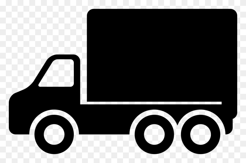 Truck Side View Pointing To Left Direction Png Icon Free - Truck Icon PNG