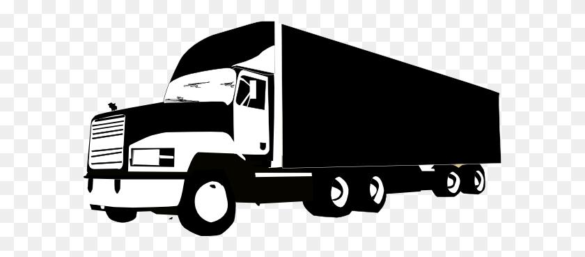 Truck Silhouette Clip Art - Truck And Trailer Clip Art