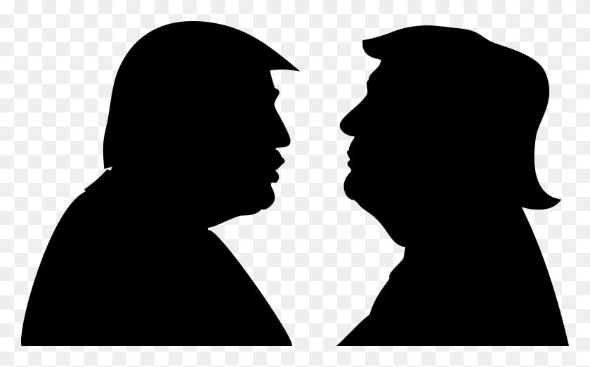 Trump And Trump Agans Png - Trump Face PNG