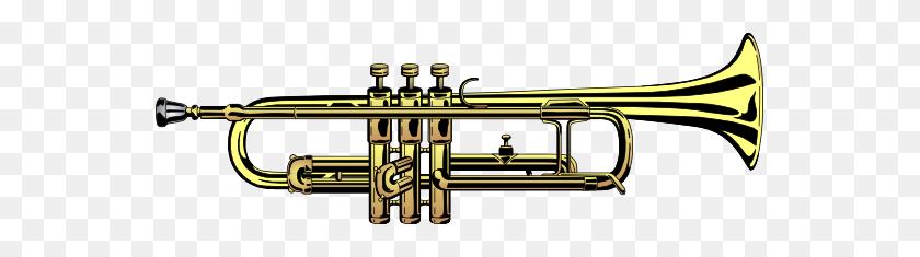 555x175 Trumpet Clip Art - Mellophone Clipart