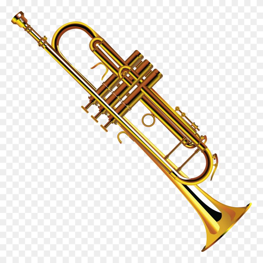 Trumpet Clip Art Clipart Image - Marching Baritone Clipart