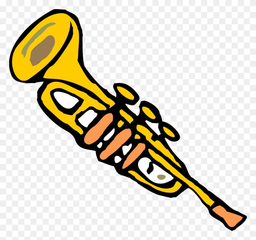 900x843 Trumpet Clipart, Vector Clip Art Online, Royalty Free Design - Clipart Musical Instruments