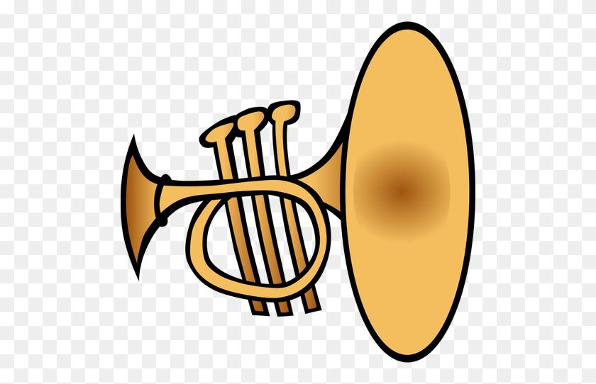 Trumpet Vector Clip Art - Maestro Clipart