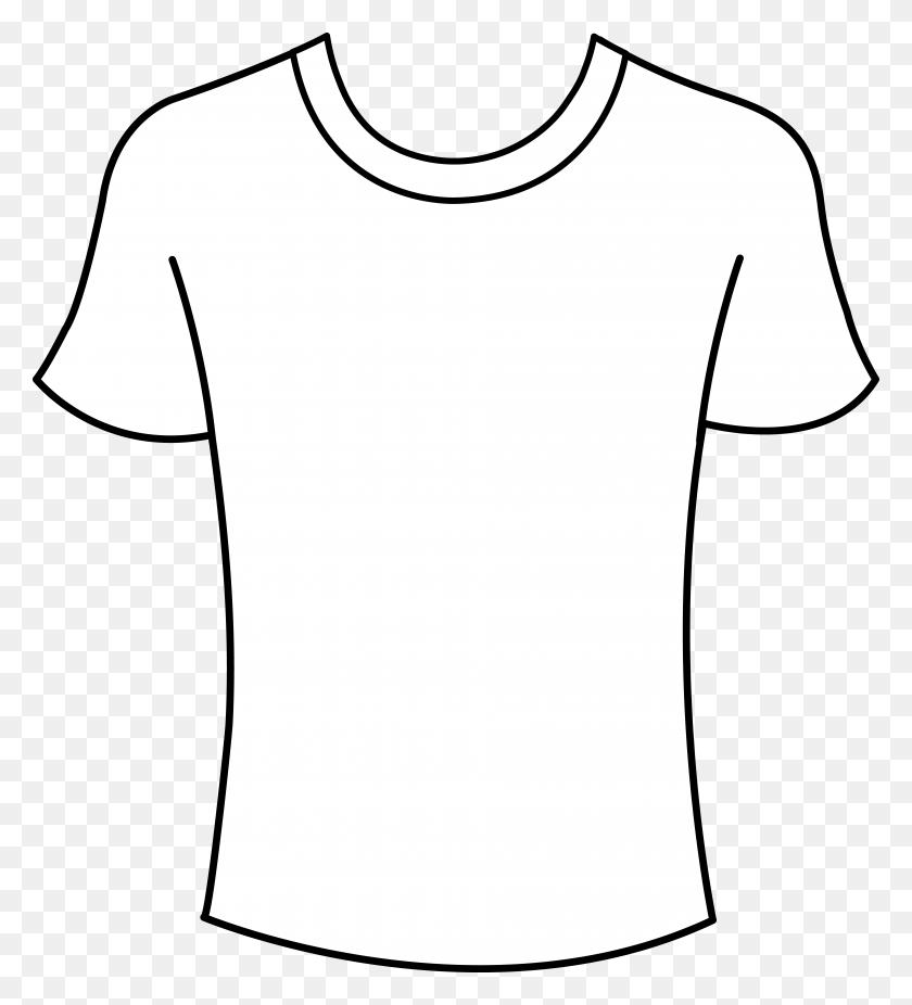 Tshirt Png Outline Transparent Tshirt Outline Images - White T Shirt PNG
