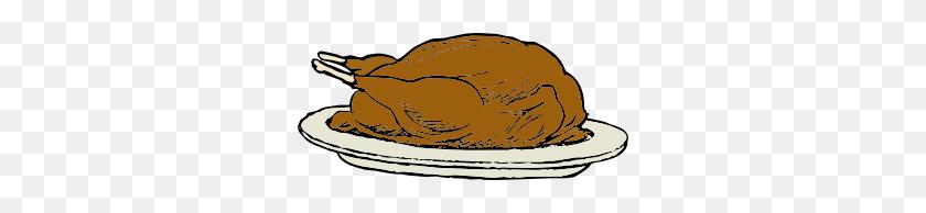 Turkey On A Platter Clip Art Free Vector - Roast Turkey Clipart