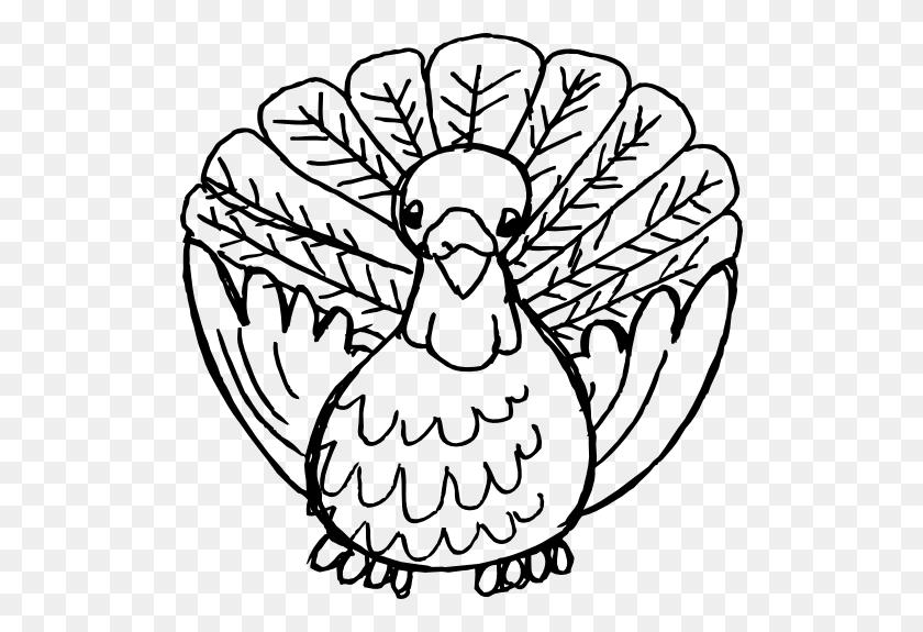 Turkey Outline Clip Art - Roast Turkey Clipart