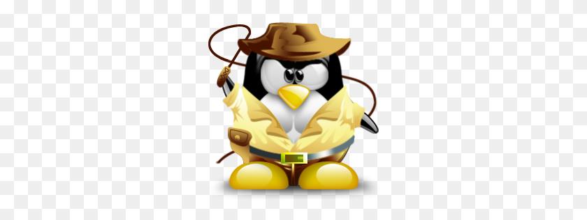 Tux Indiana Jones Linux Tux - Indiana Jones Clipart