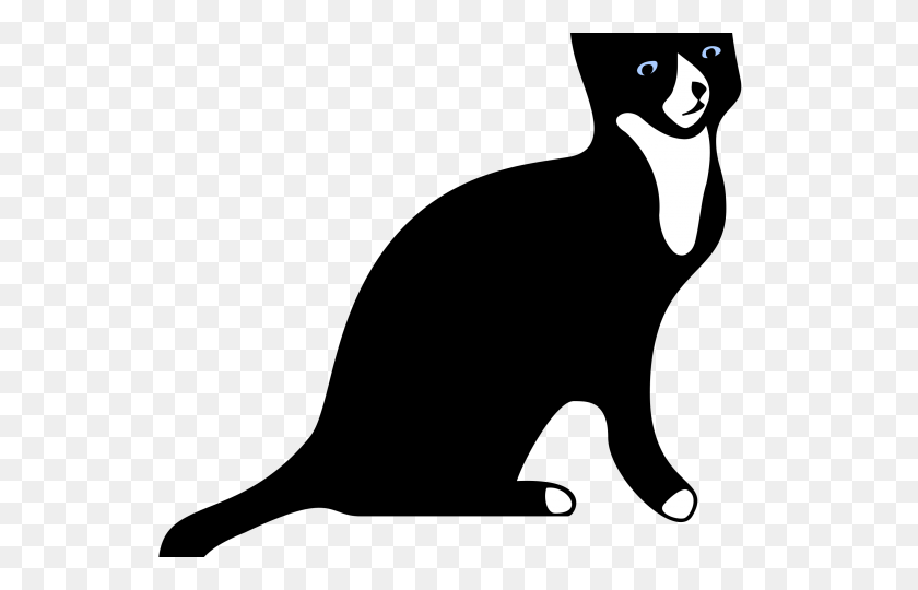 Tuxedo Cat Clipart Cat Silhouette - Cat Silhouette PNG