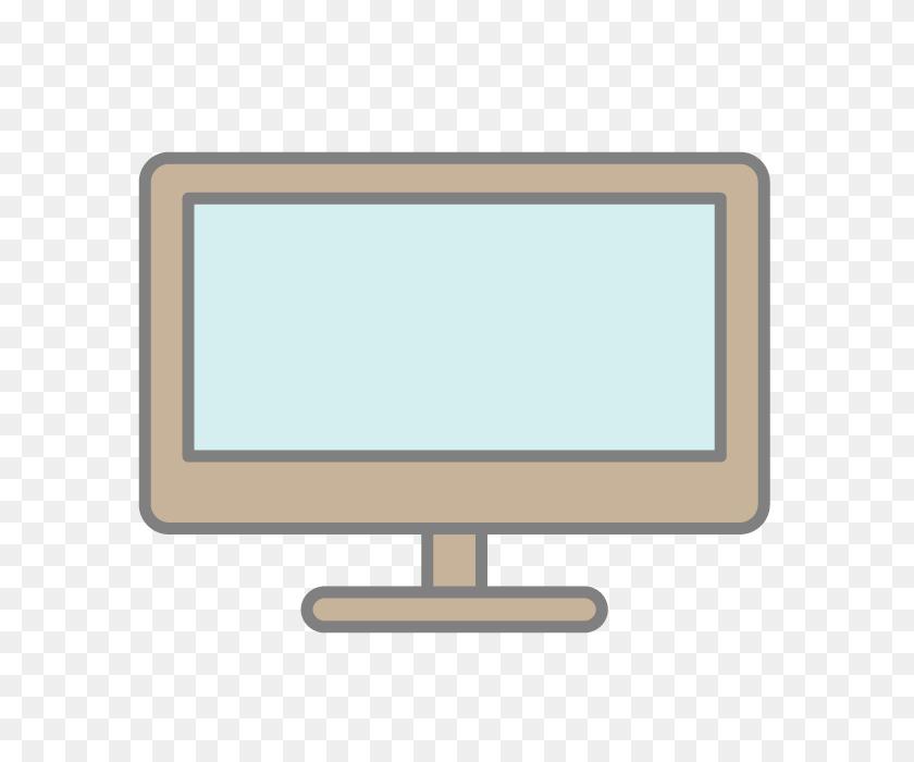 Tv Monitor Free Icon Material Illustration Clip Art - Monitor Clipart