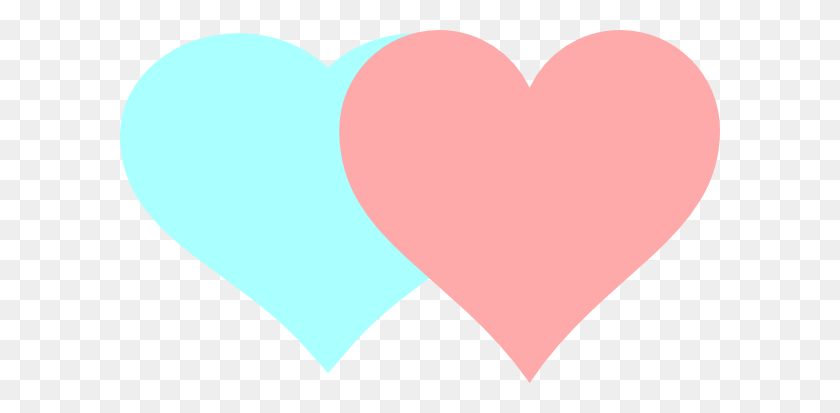 Two Hearts Clip Art - Two Hearts Clipart