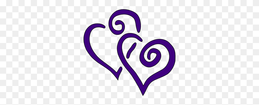 Two Hearts Clip Art Purple, Pictures Of Hearts Heart Images - Two Hearts Clipart