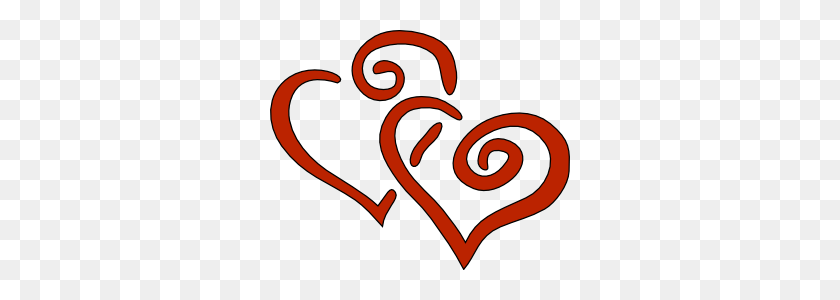 Two Hearts Clipart - Two Hearts Clipart