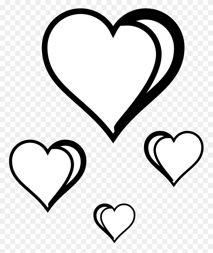 Two Hearts Clipart Black And White - Two Hearts Clipart