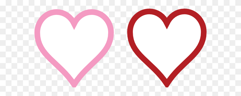 Two Hearts Lined Clip Art - Two Hearts Clipart