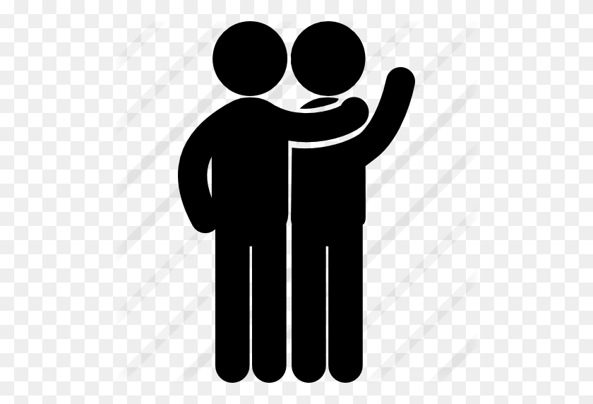 Two Male Friends Communication Standing One In Front Of The Other - People Standing PNG
