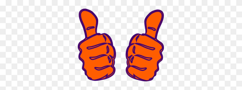 Two Thumbs Up Purple Blue Clip Art - Thumbs Down Clipart