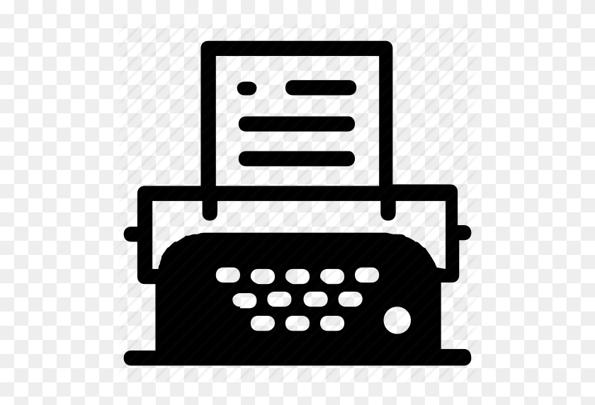 Typewriter, Writer Icon - Typewriter PNG