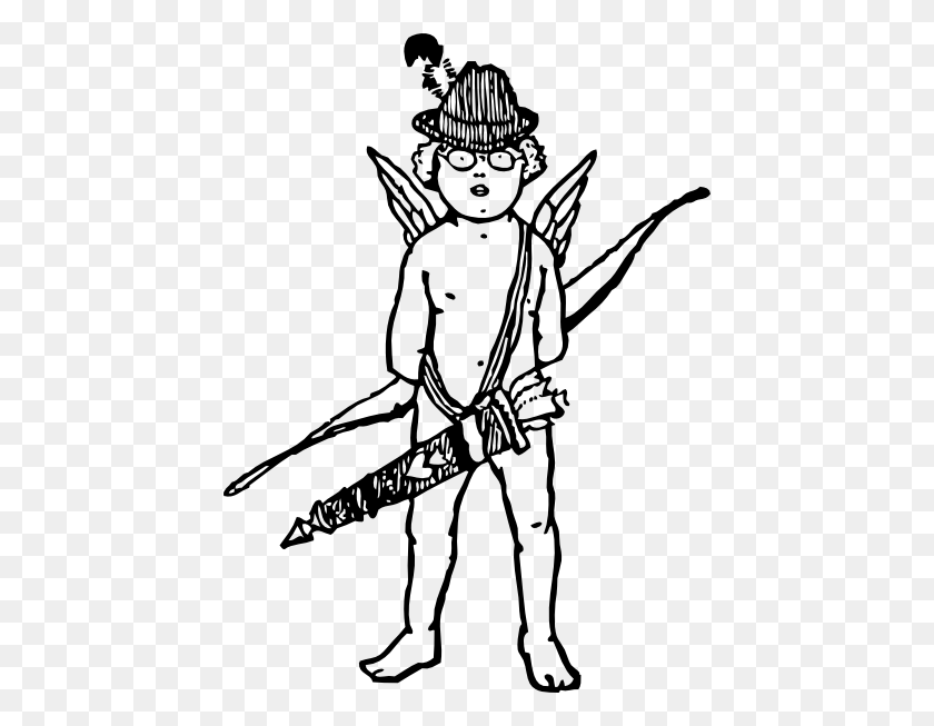 438x593 Tyrol Cupid Clip Art Is Free - Free Cupid Clipart