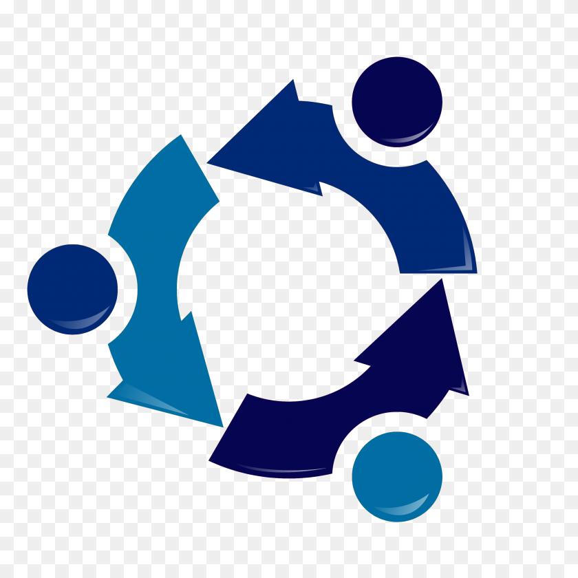 Ubuntu Recycling Logo Blue - Recycling Symbol PNG