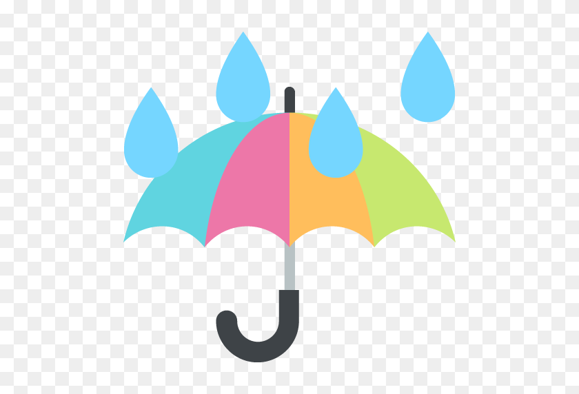 Umbrella With Rain Drops Emoji For Facebook, Email Sms Id - Rain Drops PNG