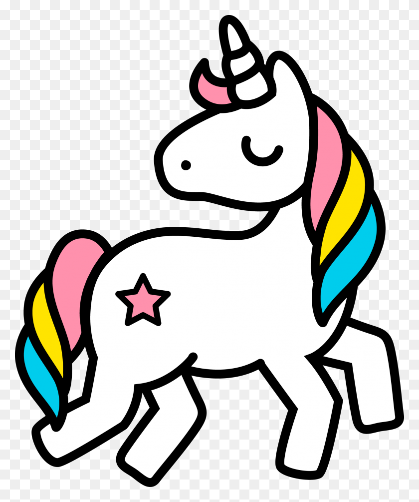 Unicorn Clip Art Image Black - Pony Clipart Black And White