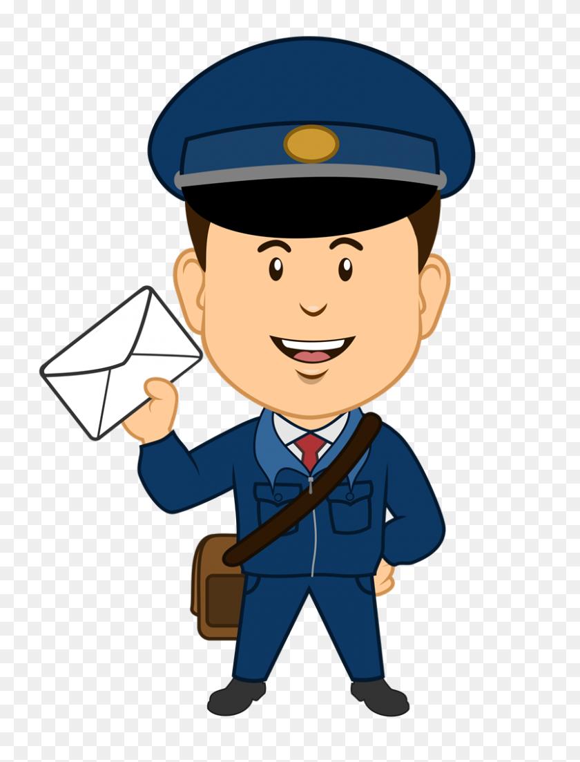 Uniform Clipart Postman - Police Uniform Clipart