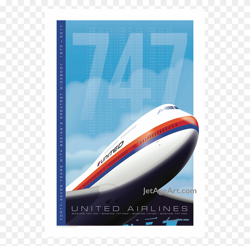 766x766 United Airlines Boeing Tribute Poster Saul Bass Livery Jet - United Airlines PNG