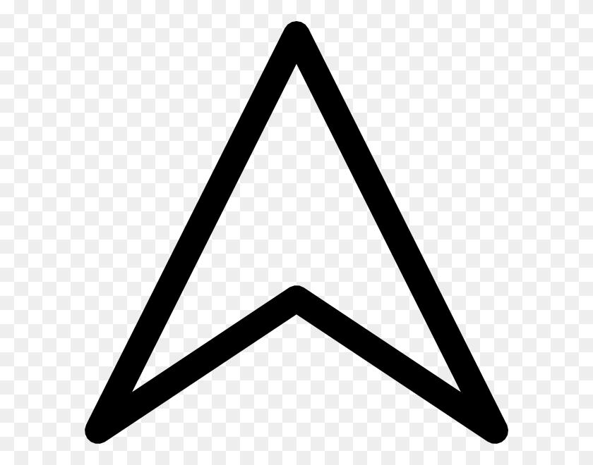 600x600 Up Arrow Head Clip Art - Arrow Sign Clipart