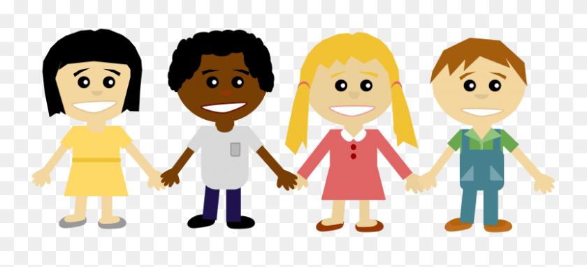 Update - Friends Holding Hands Clipart