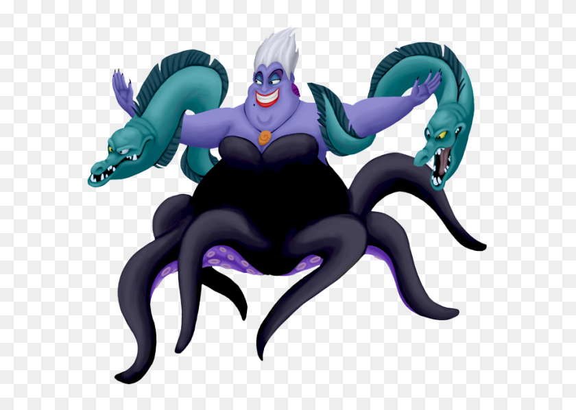 Ursula With Her Eels Adventure On The High Seas! - Ursula PNG