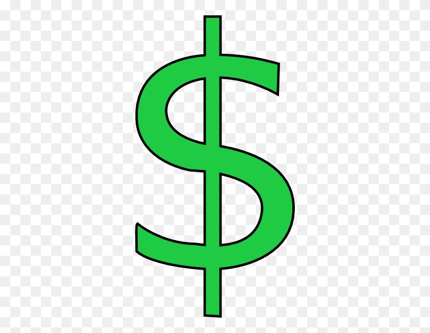 Us Dollar Sign Vector Clip Art Freevectors - Money Bag Clipart