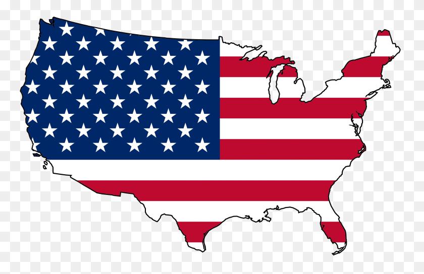 Us Map - Australian Flag Clip Art