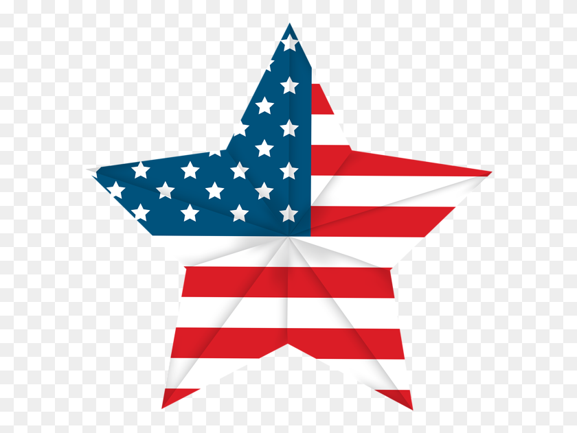 Usa Star Flag Png Clip Art Image Of July Art - Usa Clipart
