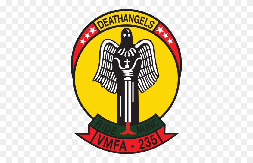 Usmc Vmfa Death Angel Sticker Military, Law Enforcement - Usmc Logo Clip Art